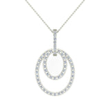 Entwined Circles Dangling Diamond Pendant in 14K Gold (I,I1) - White Gold