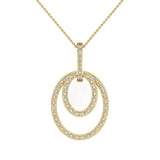 Entwined Circles Dangling Diamond Pendant in 18K Gold (G,VS) - Yellow Gold
