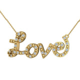 0.32 ct Diamond Love Necklace 18K Gold (G,VS) - Yellow Gold