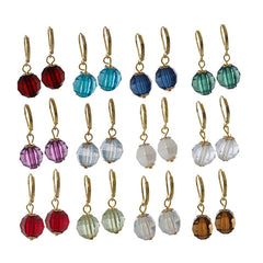 Set of 12 Colors of Birthstone Lever Back Earrings