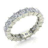 Princess Eternity Diamond Wedding Band 14K White Gold (G,SI) - White Gold