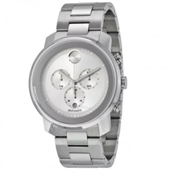Bold Silver Dial Stainless Steel Men's Watch 3600276