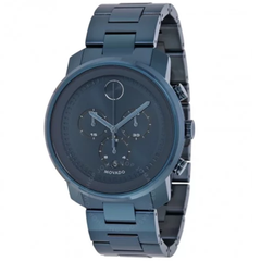 Bold Dark Navy Dial Blue Ion-plated Men's Watch 3600279