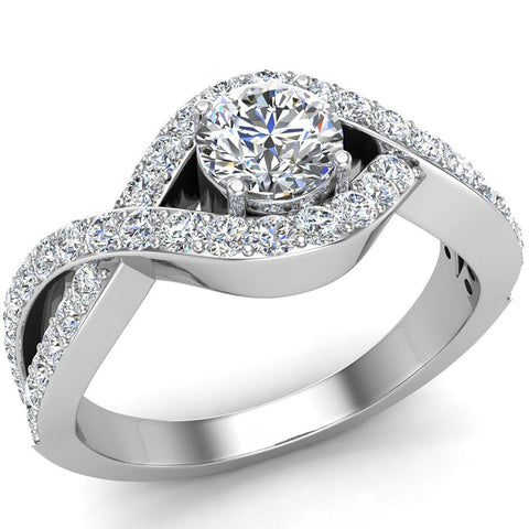 Diamond Engagement Ring 14k Gold 0.80 ct tw (G,SI) - White Gold