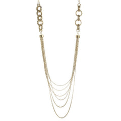 Multi-Strand Mesh Link & Chain Nested Necklace