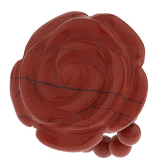Lee Sands Gemstone Carved Rose Stretch Ring