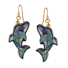 Lee Sands Animal Inlay Earrings