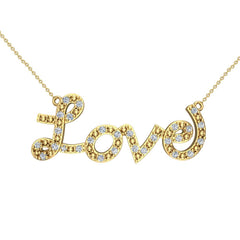 0.32 ct Diamond Love Necklace 18K Gold in Yellow Gold