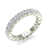Round Eternity Diamond Wedding Band 2.42 ctw 18K Gold (G,SI) - White Gold
