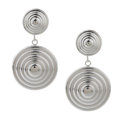 Sterling Polished Dimensional Double Spiral Earrings