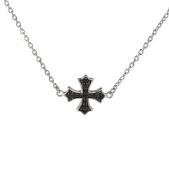 David English Diamonique Petite Cross Necklace Sterling