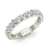 Diamond 2.25 mm Stackable Eternity Band 18K Gold (G,VS) - White Gold
