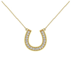 0.30 ct tw Diamond Horseshoe Necklace 14K in White Gold