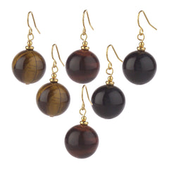 Lee Sands Set of 3 Tiger's Eye Earrings