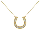 0.30 ct tw Diamond Horse shoe Necklace 18K Gold (G,VS) - Yellow Gold