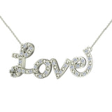 0.32 ct Diamond Love Necklace 18K Gold (G,VS) - White Gold