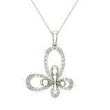 0.51 ct tw Butterfly Diamond Necklace 14K Gold (G,SI) - White Gold