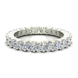Round Eternity Diamond Wedding Band 14K White Gold (I,I1) - White Gold