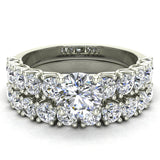 Trellis Round Diamond Wedding Ring Set 2.05 ctw 14K Gold (I,I1) - White Gold