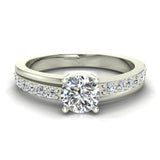 Minimalist Promise Diamond Ring 0.78 Ctw 14K Gold (G,I1) - White Gold