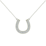 0.30 ct tw Diamond Horse shoe Necklace 14K Gold (I,I1) - Yellow Gold