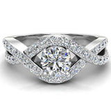Diamond Engagement Ring 14k Gold 0.80 ct tw (G,I1) - White Gold