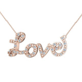 0.32 ct Diamond Love Necklace 18K Gold (G,VS) - Rose Gold