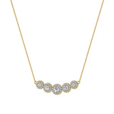 Statement Journey Halo Diamond Necklace 18K Gold 3.19 ctw (G,SI) - Yellow Gold