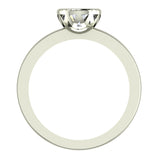 0.75 Carat Simple Vintage Engagement Ring 14K Gold (I,I1) - White Gold