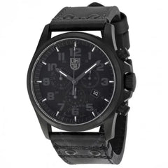 Atacama Field Chronograph Black Dial Black Leather Men's Watch A.1944