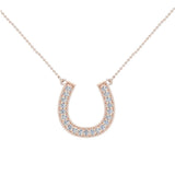 0.30 ct tw Diamond Horse shoe Necklace 14K Gold (I,I1) - Rose Gold