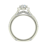 Vintage Look 14K Gold Split Shank Diamond Engagement Ring (G,SI) - White Gold