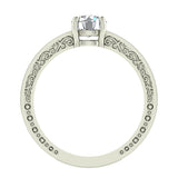 0.81 Carat Vintage Solitaire Wedding Ring 14K Gold (G,I1) - White Gold