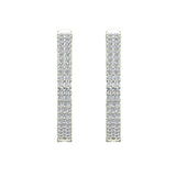 26 mm Diameter Dual Row Inside out Diamond Hoop Earrings Click Lock Setting 1.85 ctw 14k Gold (I,I1) - White Gold