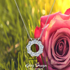 Circle Diamond Pendant in 14K Gold (G,SI)