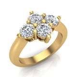 4 Stone Quad Diamond Promise Ring 14K Gold 1.40 ctw (I,I1) - Yellow Gold
