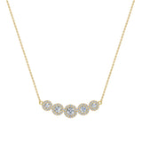Statement Journey Halo Diamond Necklace 14K Gold 3.19 ctw (G,I1) - Yellow Gold
