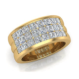 Luminous Princess Halfway Diamond Wedding Band 2.40 ctw 18K Gold (G,SI) - Yellow Gold