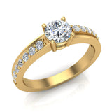 Minimalist Promise Diamond Ring 0.78 Ctw 14K Gold (G,I1) - Yellow Gold