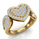 Diamond Heart Promise Ring 18K Gold (G,VS) - Yellow Gold