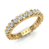 Diamond 2.25 mm Stackable Eternity Band 18K Gold (G,VS) - Yellow Gold