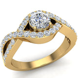 Diamond Engagement Ring 14k Gold 0.80 ct tw (G,I1) - Yellow Gold