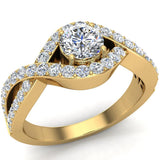 Diamond Engagement Ring 14k Gold 0.80 ct tw (G,SI) - Yellow Gold