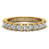 Diamond 2.25 mm Stackable Eternity Band 14K Gold (G,SI) - Yellow Gold