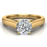 Round Brilliant Cut Diamond Engagement Ring 14K Gold (G,I1) - Yellow Gold