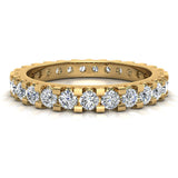 Diamond 2.25 mm Stackable Eternity Band 14K Gold (I,I1) - Yellow Gold