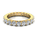 Round Eternity Diamond Wedding Band 2.42 ctw 18K Gold (G,SI) - Yellow Gold