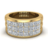 Luminous Princess Halfway Diamond Wedding Band 2.40 ctw 14K Gold (G,I1) - Yellow Gold