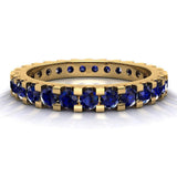 Gemstone 2.25 mm Stackable Eternity Band 14K Gold - Yellow Gold