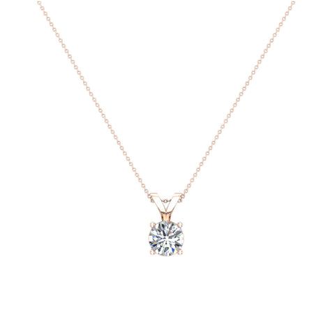 Round brilliant diamond solitaire pendant necklace in 14k gold g h round brilliant diamond solitaire pendant necklace in 14k gold gi1 rose aloadofball Images